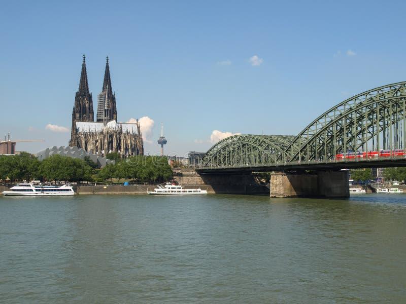 Vista de la ciudad de Koeln imágenes de archivo libres de regalías