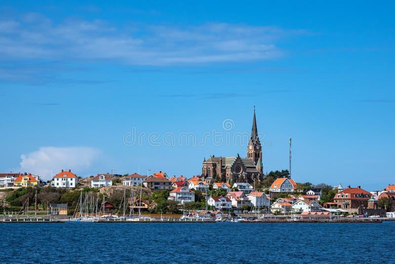 Vista de la ciudad de Lysekil en Suecia foto de archivo libre de regalías