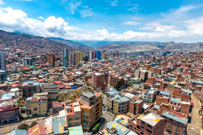 Vista de la ciudad, La Paz, Bolivia foto de archivo