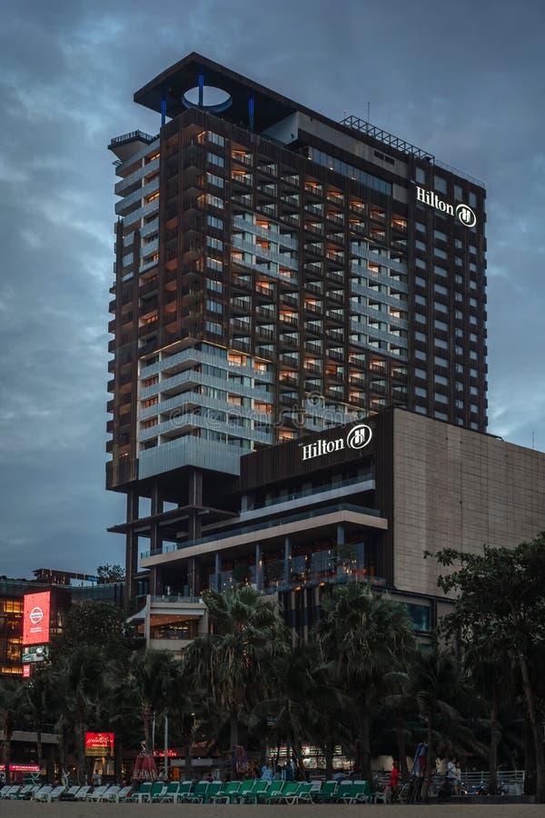 Vista de la ciudad de la tarde Pattaya, Tailandia foto de archivo libre de regalías