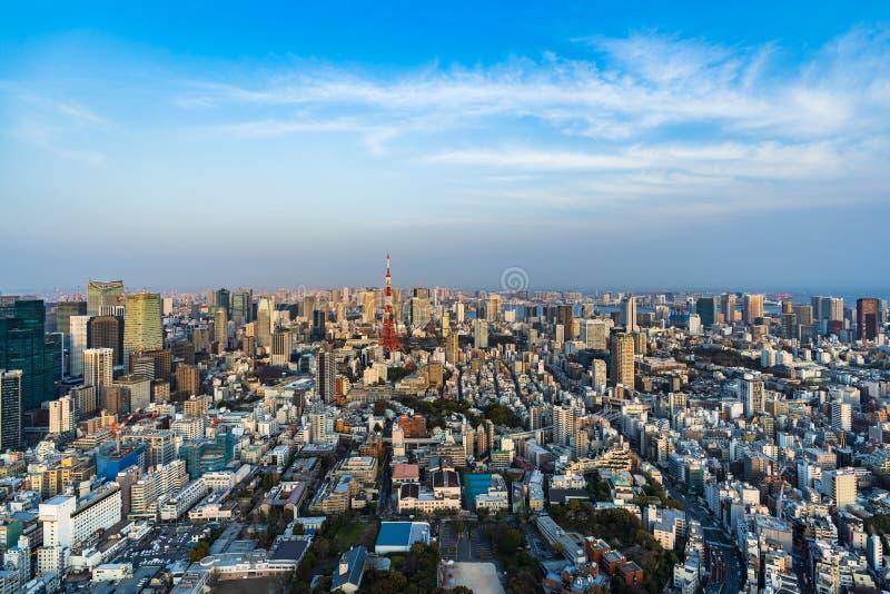Vista de la ciudad de Tokio, Jap?n imágenes de archivo libres de regalías