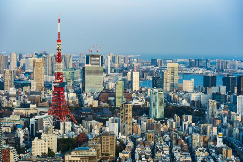 Vista de la ciudad de Tokio, Jap?n foto de archivo libre de regalías