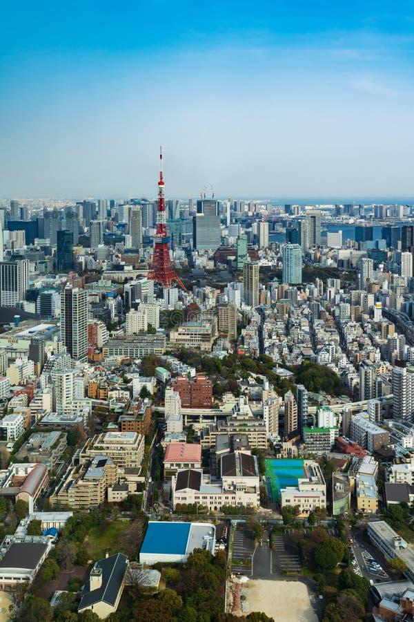 Vista de la ciudad de Tokio, Jap?n fotos de archivo