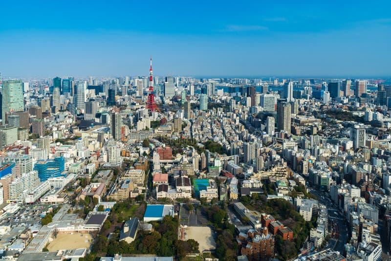 Vista de la ciudad de Tokio, Jap?n fotos de archivo libres de regalías