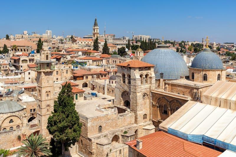 Vista de la ciudad vieja de Jerusalén desde arriba fotografía de archivo libre de regalías