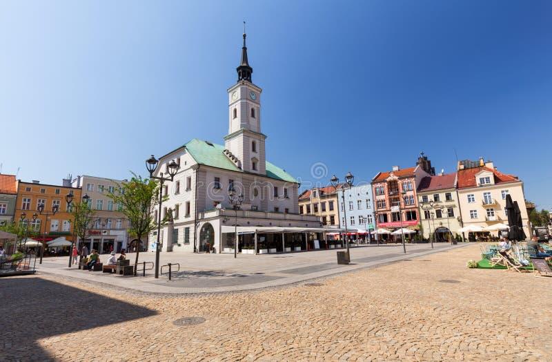 Vista de la ciudad vieja en Gliwice/abril de 2018 fotos de archivo libres de regalías