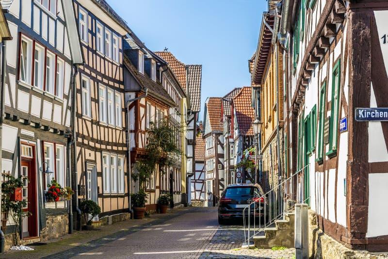 Vista de la ciudad vieja famosa de Lich imagen de archivo libre de regalías