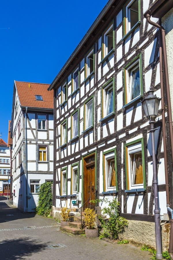 Vista de la ciudad vieja famosa de Lich imagenes de archivo