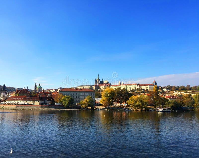 Vista de la ciudad vieja de Praga fotografía de archivo