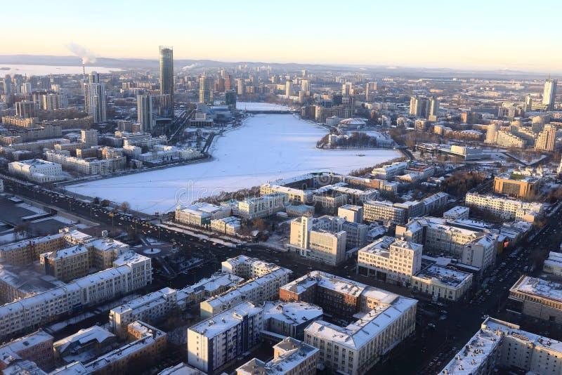 Vista de la ciudad de Yekaterinburg fotos de archivo libres de regalías