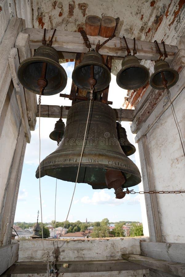 Vista de la ciudad Yuryev-Polsky del campanario del monasterio de Michael Archangel, región de Vladimir, Rusia imágenes de archivo libres de regalías