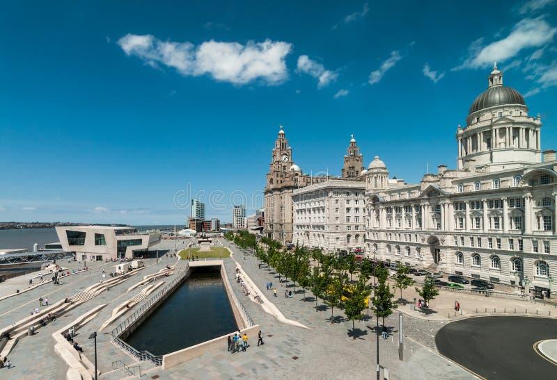 Vista de la costa de Liverpool fotografía de archivo libre de regalías