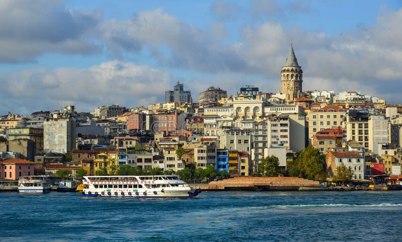 Vista de la costa de Estambul imagen de archivo libre de regalías