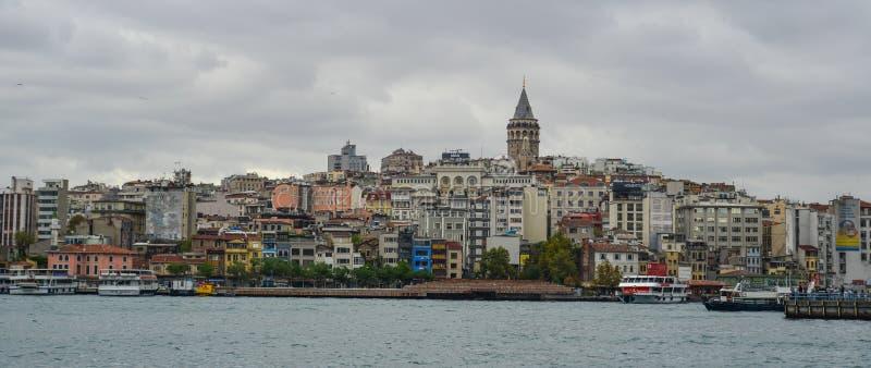 Vista de la costa de Estambul imagen de archivo