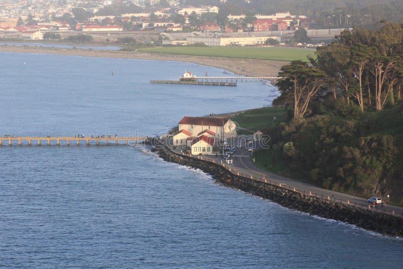 Vista de la costa costa de San Francisco cerca del Presidio fotos de archivo libres de regalías