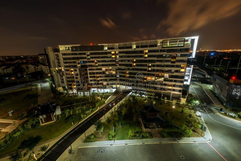 Vista de la cuarta universidad autónoma, campus de SUTD en Singapur fotos de archivo