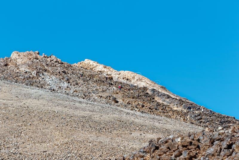 Vista de la cumbre de Mt Teide, Tenerife, España imagen de archivo libre de regalías