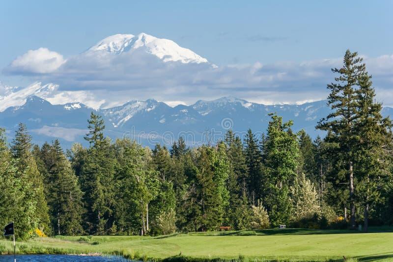 Vista de la cumbre Washington los E.E.U.U. del Monte Rainier fotografía de archivo libre de regalías