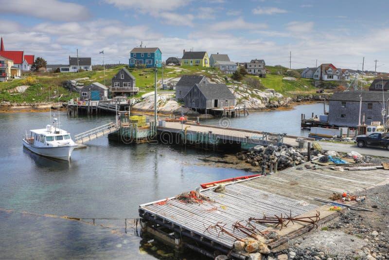 Vista de la ensenada del ` s de Peggy, Nova Scotia, Canadá fotografía de archivo