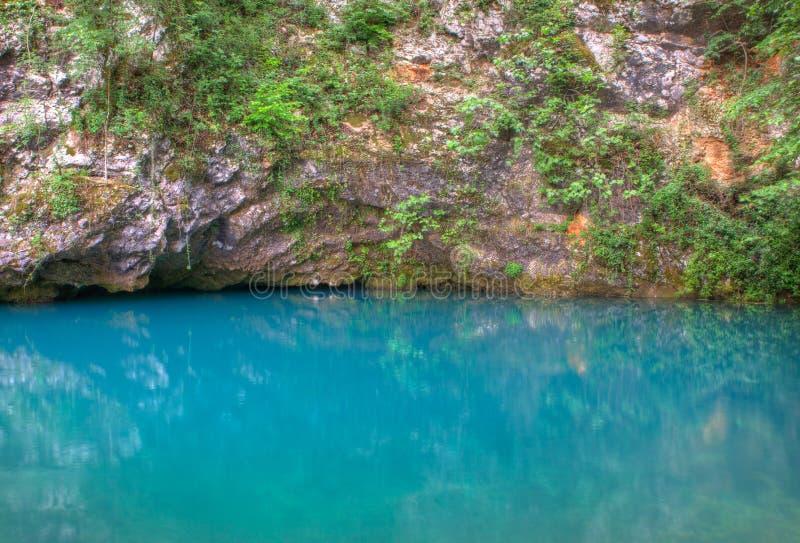 Vista de la fuente de Gorgazzo fotografía de archivo