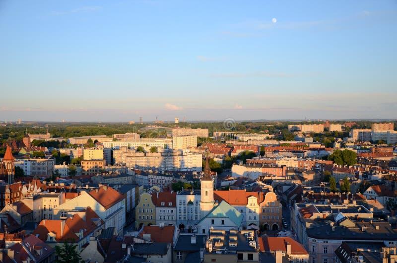 Vista de la Gliwice en Polonia fotos de archivo
