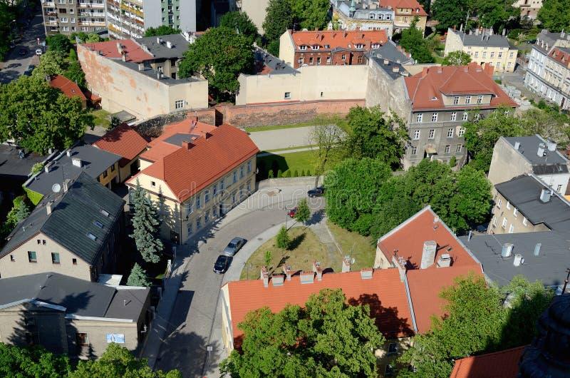Vista de la Gliwice en Polonia foto de archivo libre de regalías