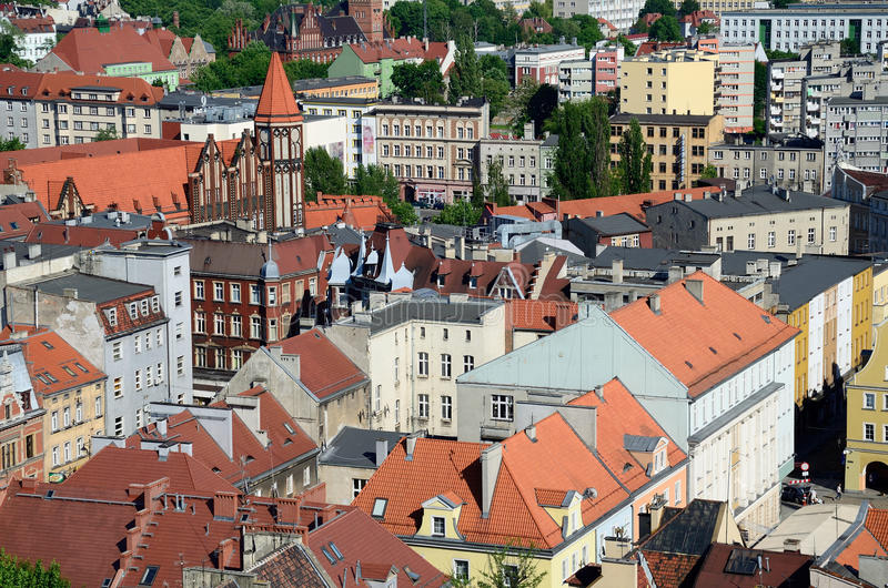 Vista de la Gliwice en Polonia fotografía de archivo