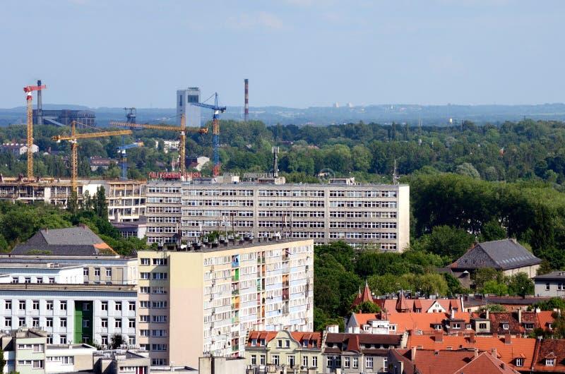 Vista de la Gliwice en Polonia foto de archivo