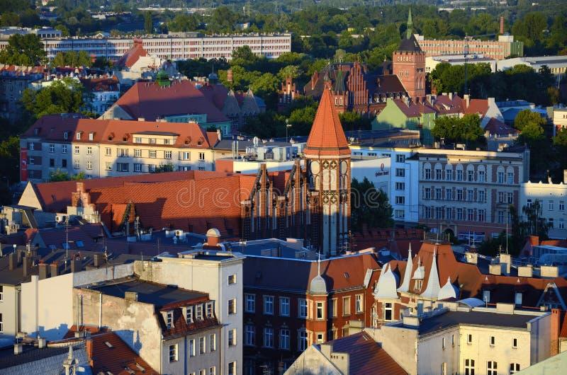 Vista de la Gliwice en Polonia imagenes de archivo