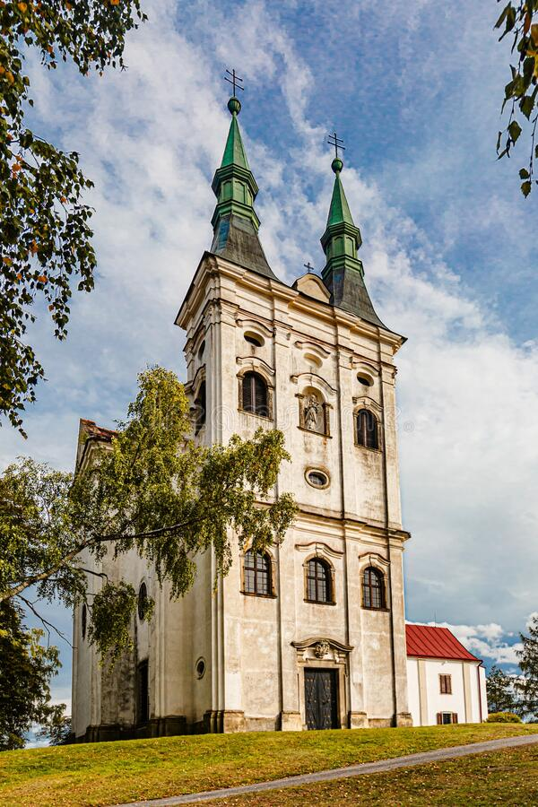 Vista de la Iglesia de Juan de Nepomuk foto de archivo libre de regalías