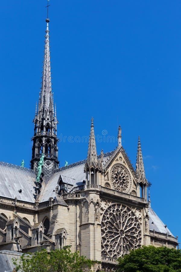 Vista de la iglesia original del Notre-Dame de Paris foto de archivo