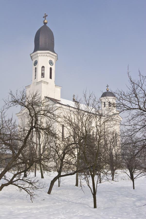 Vista de la iglesia ortodoxa tradicional imagen de archivo libre de regalías
