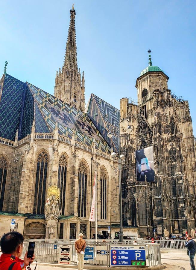 Vista de la iglesia de St Stephen - el centro del turismo imágenes de archivo libres de regalías