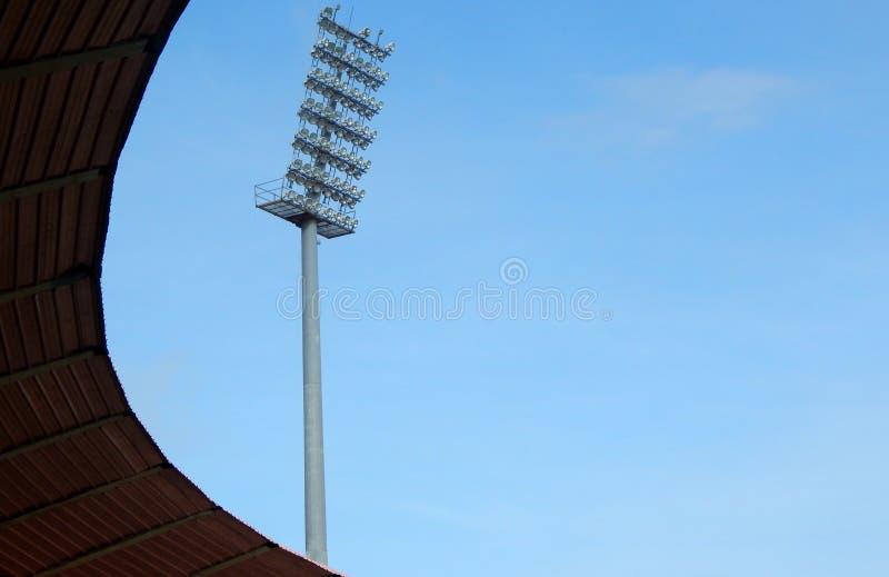 Vista de la iluminación del estadio imagenes de archivo