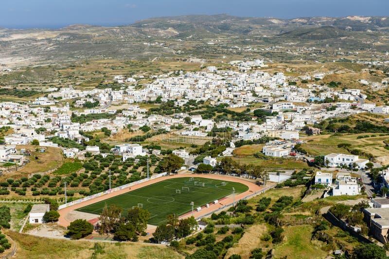 Vista de la isla de Milos imágenes de archivo libres de regalías