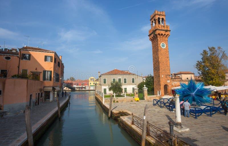 Vista de la isla de Murano, una pequeña isla dentro del área de Venecia Venezia, famosa por su producción de cristal , Italia foto de archivo libre de regalías