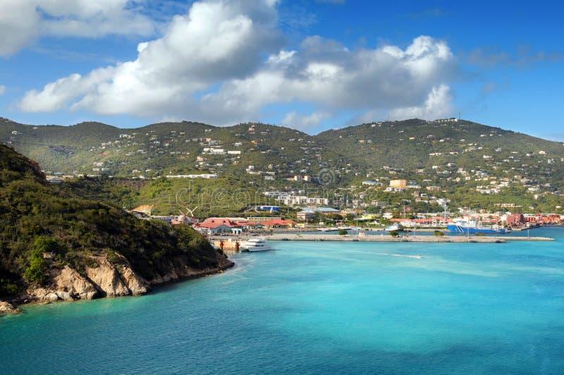 Vista de la isla Santo Tomás, USVI foto de archivo