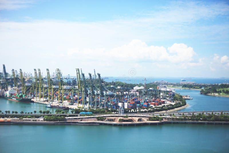 Vista de la isla Singapur de Sentosa fotografía de archivo