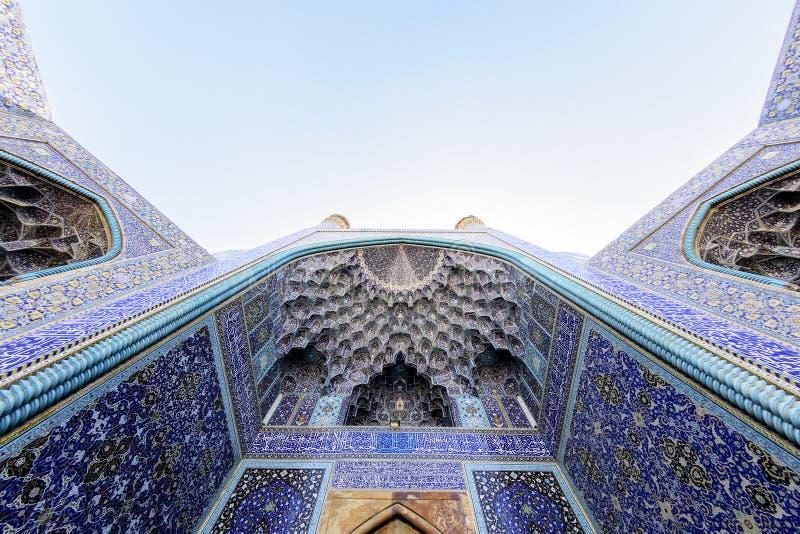Vista de la mezquita de Naqsh-e Jahan en Esfahan, Irán fotos de archivo
