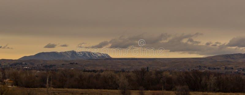 Vista de la mota de la india de Boise Idaho foto de archivo