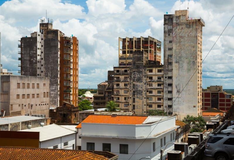 Vista de la parte central de Asuncion, Paraguay foto de archivo