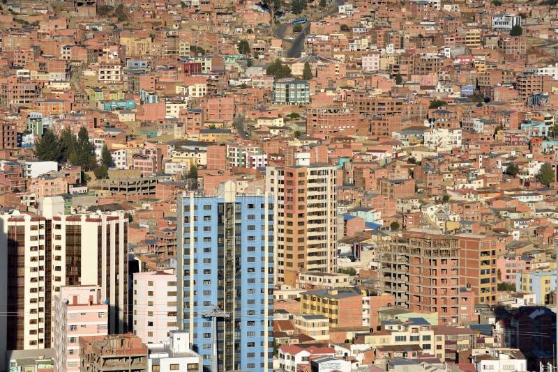 Vista de La Paz, Bolivia imágenes de archivo libres de regalías