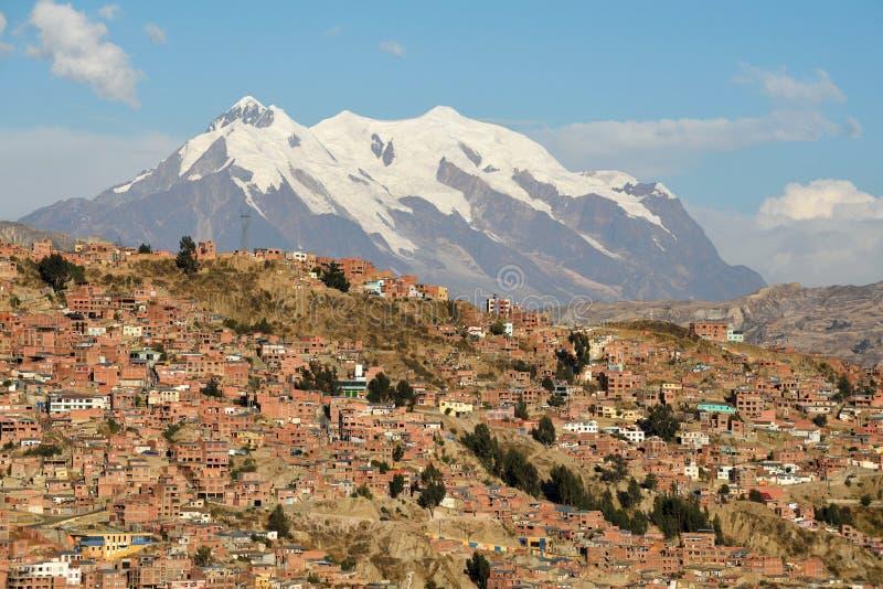 Vista de La Paz, Bolivia fotografía de archivo libre de regalías