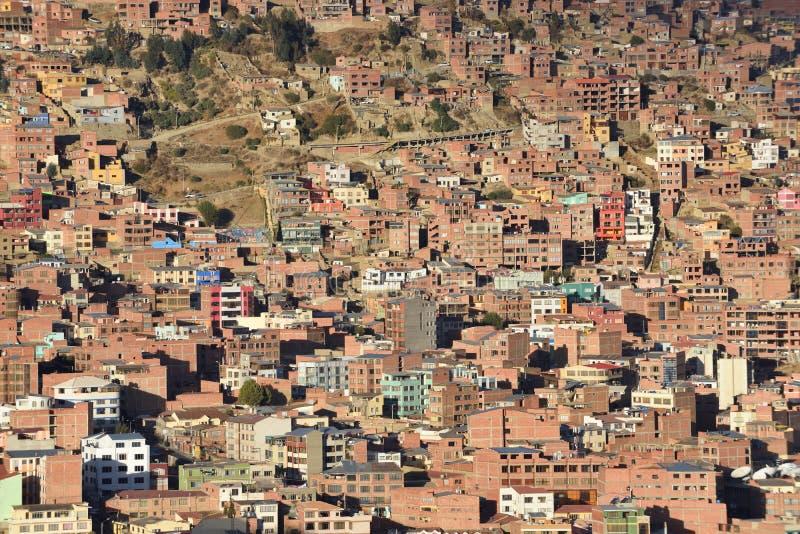 Vista de La Paz, Bolivia fotografía de archivo