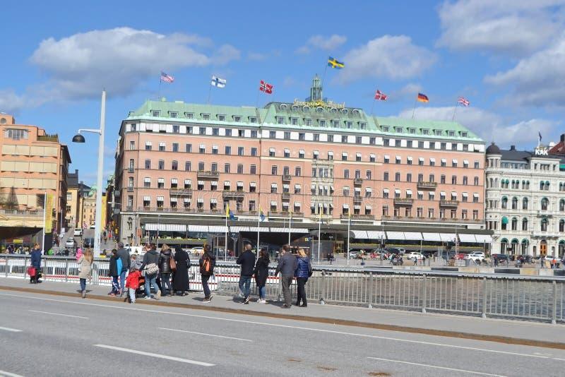Vista de la pieza del quintal de Estocolmo fotografía de archivo libre de regalías