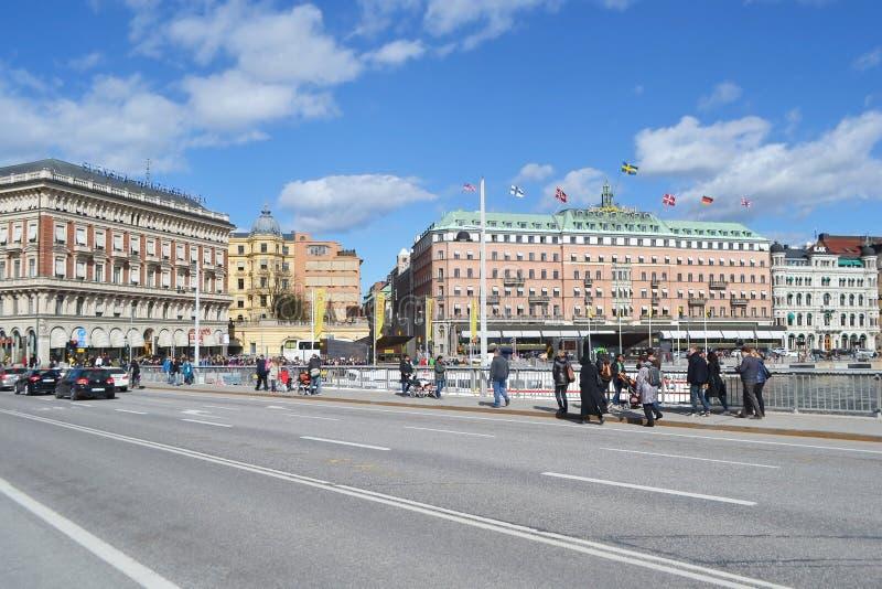 Vista de la pieza del quintal de Estocolmo fotos de archivo