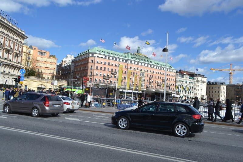 Vista de la pieza del quintal de Estocolmo fotos de archivo libres de regalías
