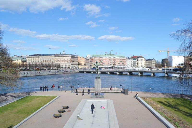 Vista de la pieza del quintal de Estocolmo fotografía de archivo