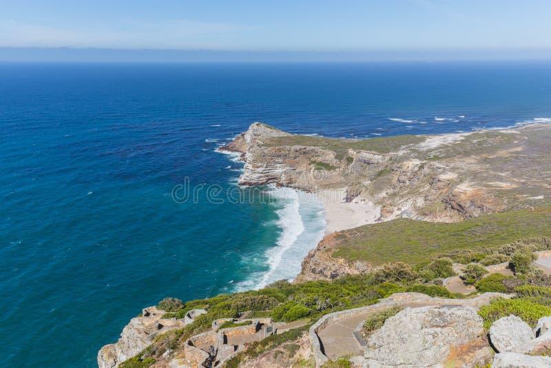 Vista de la playa de Díaz en el punto del cabo foto de archivo
