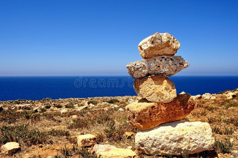 Vista de la playa de Cala Domestica, Cerdeña, Italia fotos de archivo libres de regalías